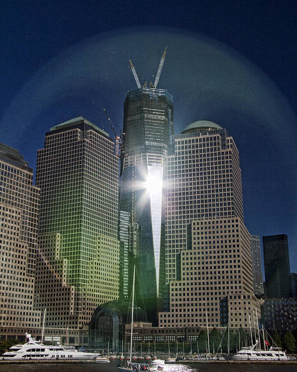 New Poster featuring the photograph New World Trade Center by David Smith