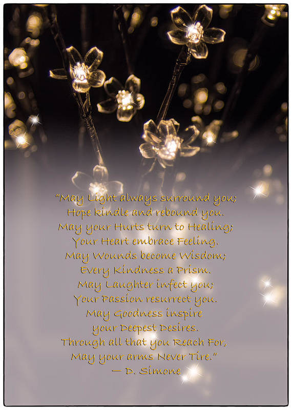 New Year Poster featuring the photograph May Light Surround You by Louise Hill