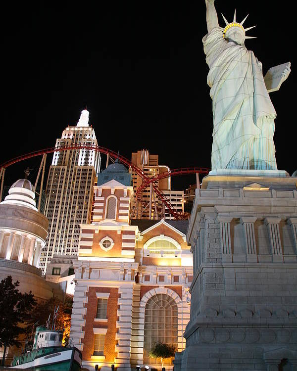 Vegas Poster featuring the photograph New York New York by Rich Tanguay
