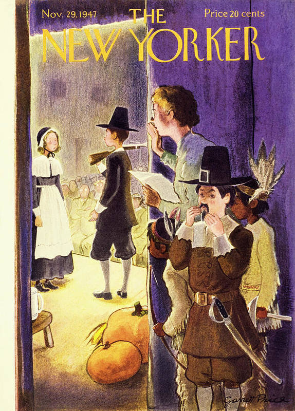Children Poster featuring the painting New Yorker November 29, 1947 by Garrett Price