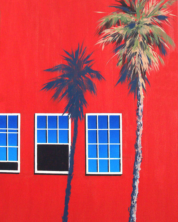Palm Tree Poster featuring the painting Newport Afternoon by Philip Fleischer