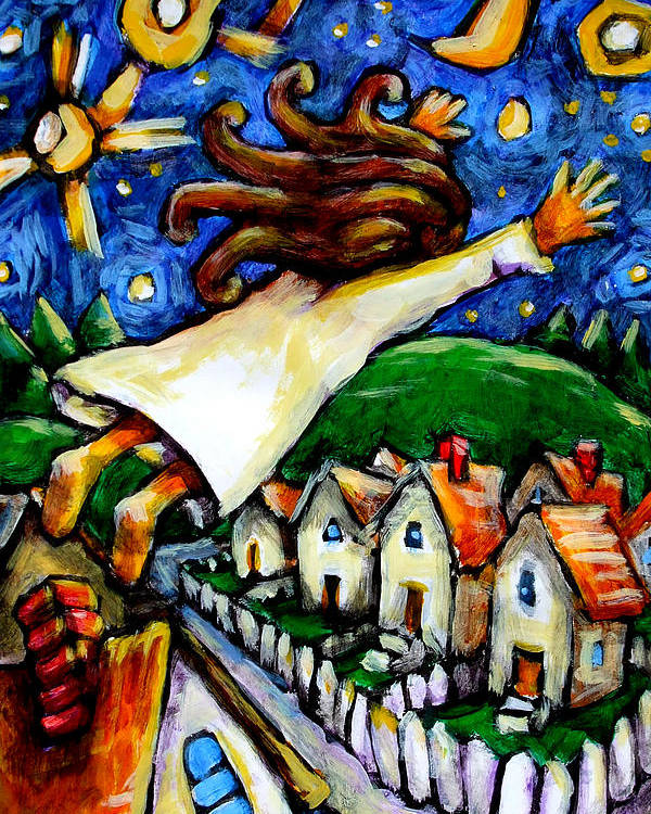 Children Poster featuring the painting Night Fall by Chad Elliott
