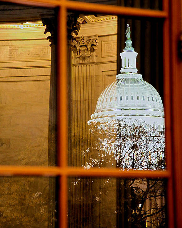 Russell Senate Office Building Poster featuring the photograph Night by Mitch Cat