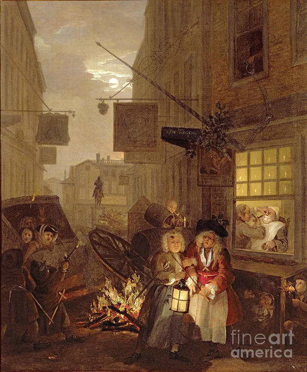 The Poster featuring the painting Night by William Hogarth