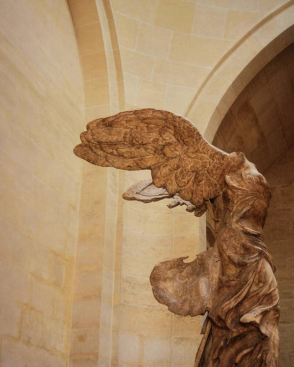 Winged Poster featuring the photograph Nike Of Samothrace by JAMART Photography