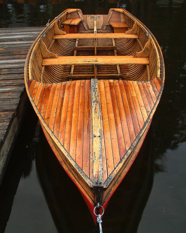 Cedar Strip Boat Poster featuring the photograph Nipissing Boat by Linda McRae