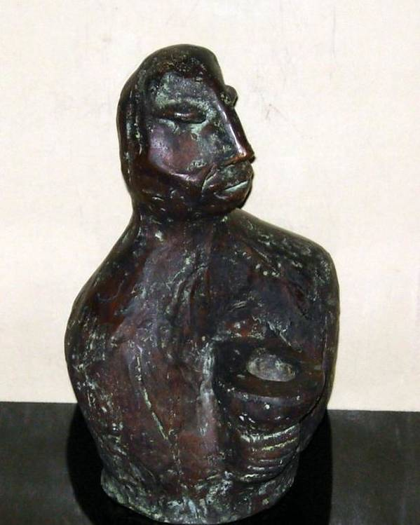 Male Torso Poster featuring the sculpture No. 245 by Vijayan Kannampilly