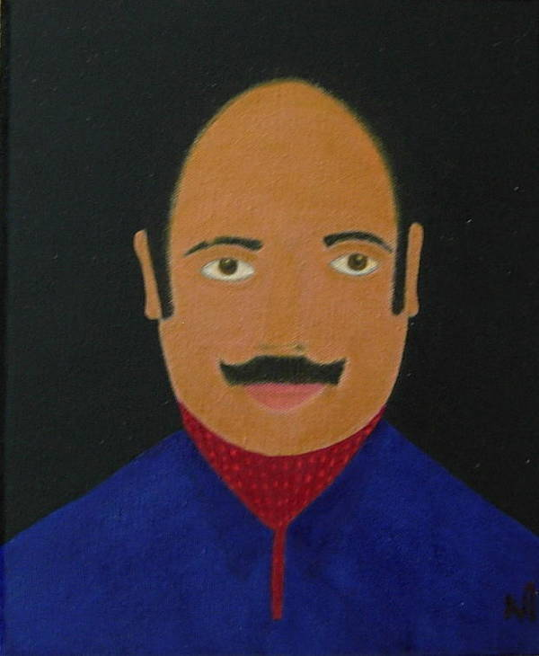 Portrait Study Poster featuring the painting No. 329 by Vijayan Kannampilly