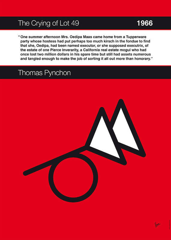Thomas Poster featuring the digital art No023-my-the Crying Of Lot 49-book-icon-poster by Chungkong Art