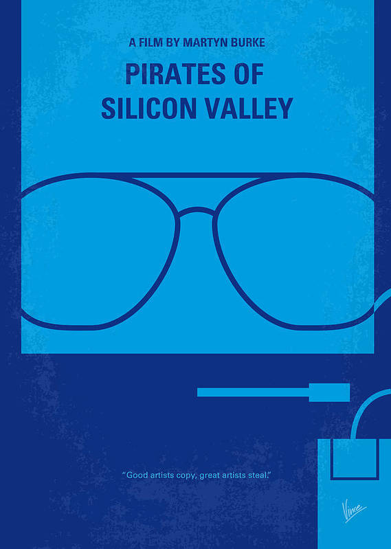 Pirates Poster featuring the digital art No064 My Pirates Of Silicon Valley Minimal Movie Poster by Chungkong Art