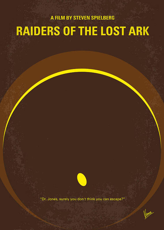 Raiders Poster featuring the digital art No068 My Raiders Of The Lost Ark Minimal Movie Poster by Chungkong Art