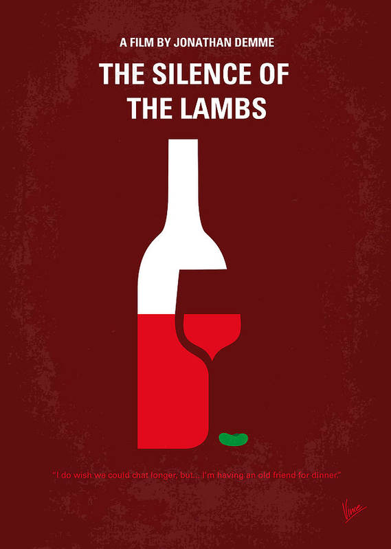 Silence Poster featuring the digital art No078 My Silence Of The Lamb Minimal Movie Poster by Chungkong Art