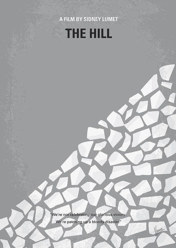 Hill Poster featuring the digital art No091 My The Hill Minimal Movie Poster by Chungkong Art
