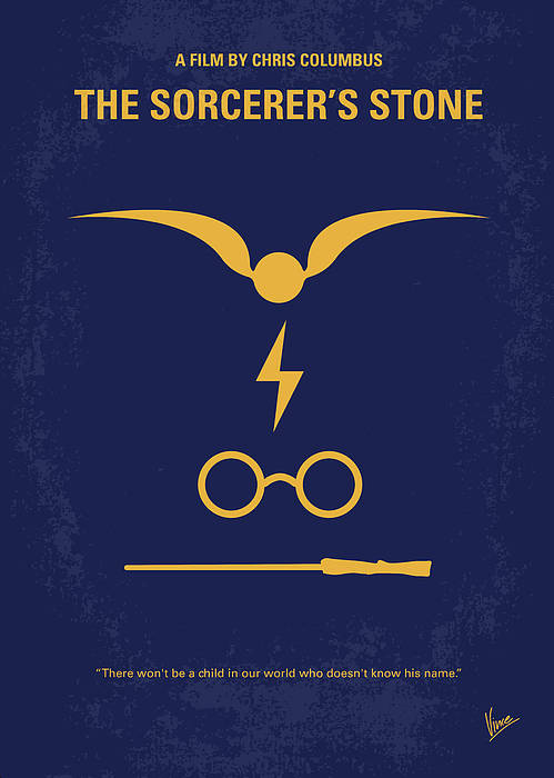 Harry Poster featuring the digital art No101 My Harry Potter Minimal Movie Poster by Chungkong Art