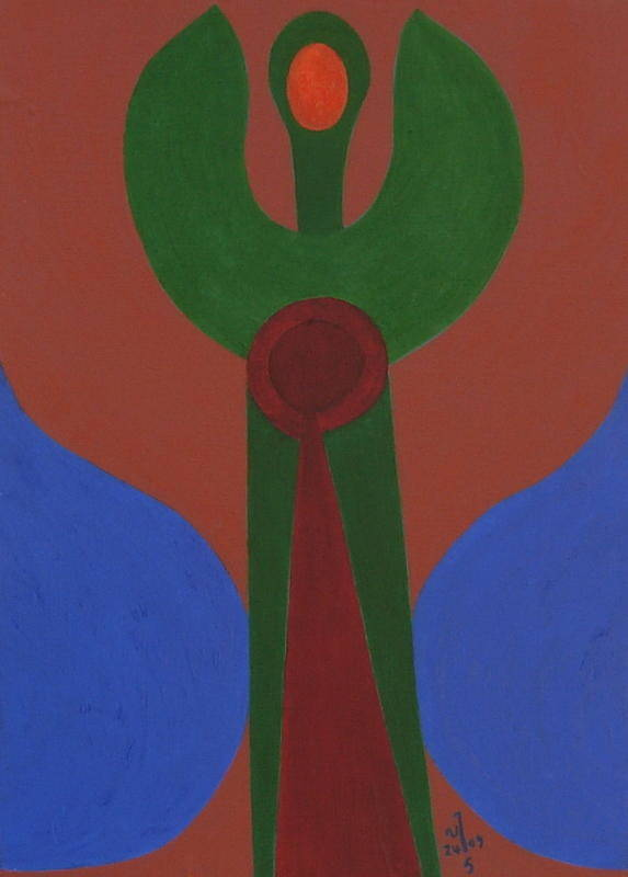Abstract Poster featuring the painting No.340 by Vijayan Kannampilly