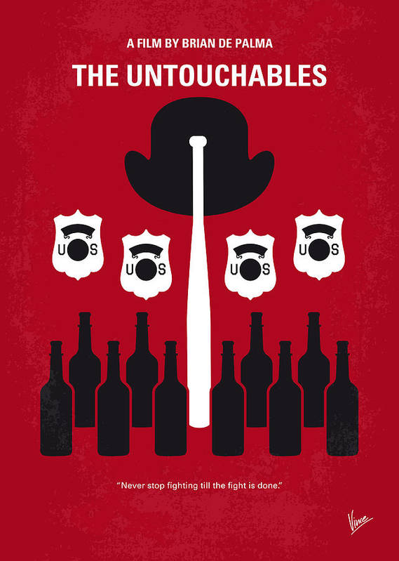 The Poster featuring the digital art No463 My The Untouchables Minimal Movie Poster by Chungkong Art