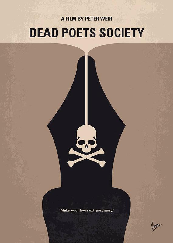 No486 My Dead Poets Society minimal movie poster by Chungkong Art
