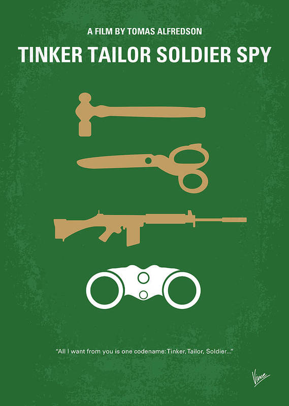 1793fcc0963a2c Tinker Poster featuring the digital art No787 My Tinker Tailor Soldier Spy  Minimal Movie Poster by
