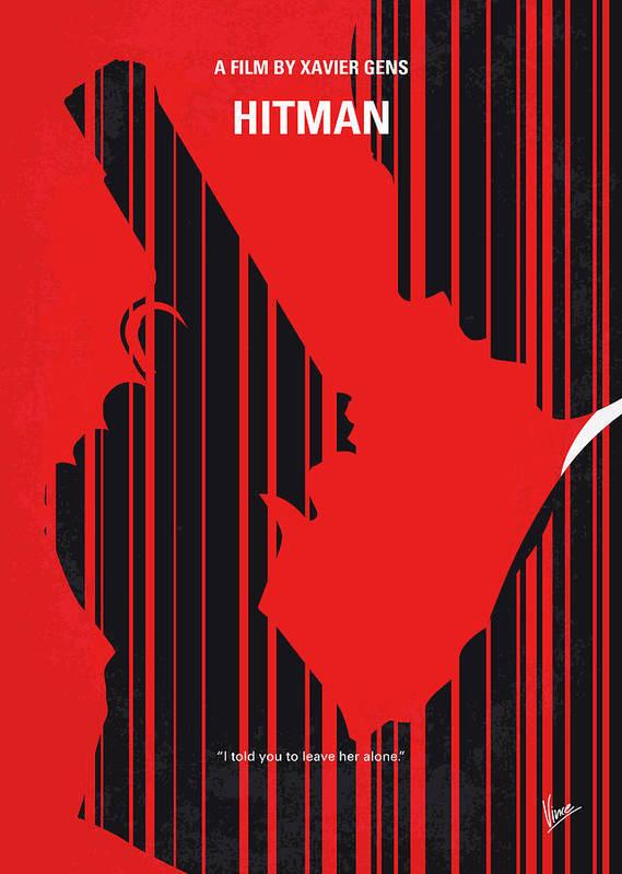 No874 My Hitman Minimal Movie Poster Poster By Chungkong Art