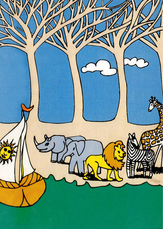 Noah's Ark Poster featuring the painting Noah's Ark by Genevieve Esson