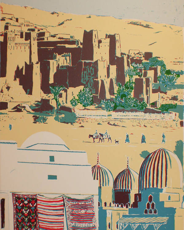 Poster featuring the print North African landscape by Biagio Civale
