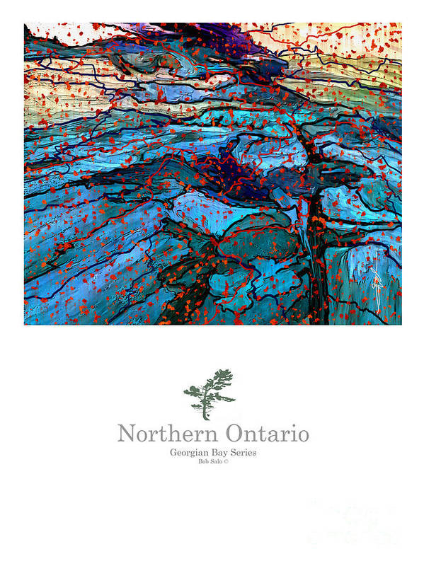 Art Posters Poster featuring the painting Northern Ontario Poster Series by Bob Salo