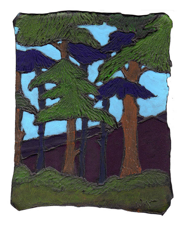 Tree Poster featuring the painting Northern Woods by Wayne Potrafka