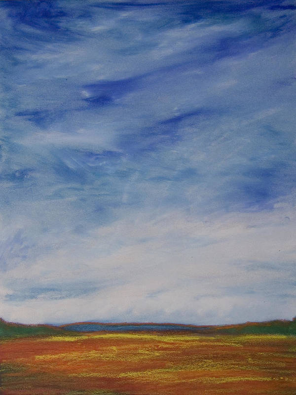 Abstract Landscape Poster featuring the painting Nothing But Blue Skies by Wynn Creasy