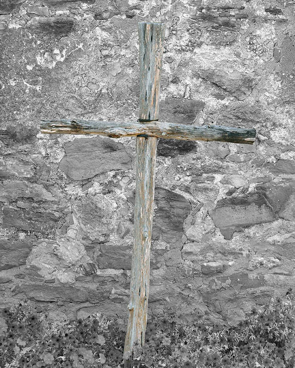 Cross Poster featuring the photograph Nothing But The Cross by Teresa Blanton