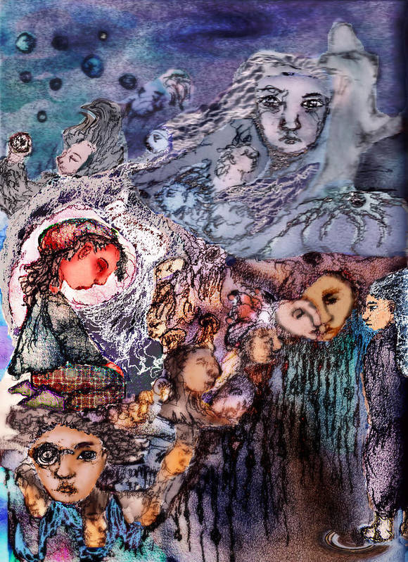 Fantasy Poster featuring the mixed media Nothing Left To Say by Cynthia Richards