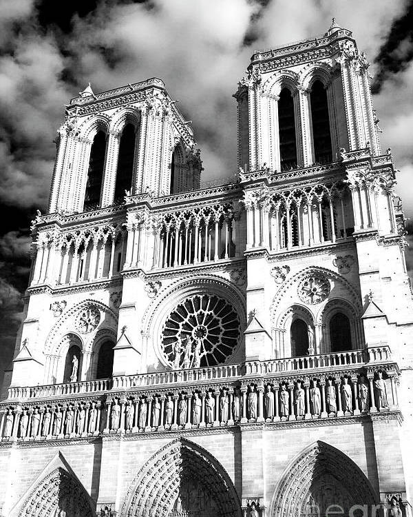 Notre Dame Poster featuring the photograph Notre Dame by John Rizzuto