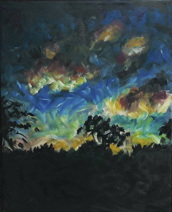 Dusk Poster featuring the painting Now Dusk by Susan Moore
