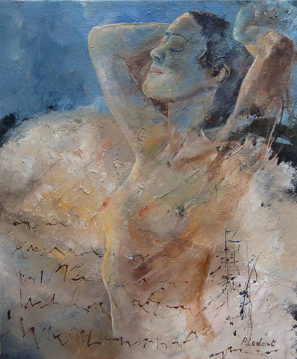 Nude Poster featuring the painting Nude 0508 by Pol Ledent
