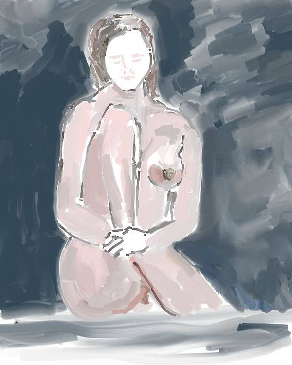 Art Poster featuring the painting Nude Model 4 by Carlos Camus