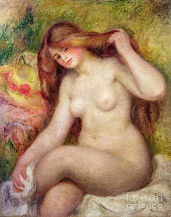 Nude Poster featuring the painting Nude by Renoir