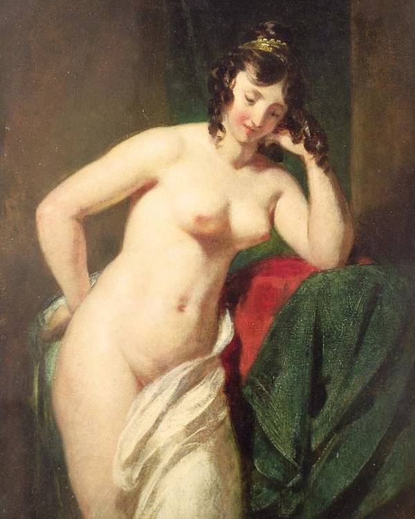 Nude Poster featuring the painting Nude by William Etty