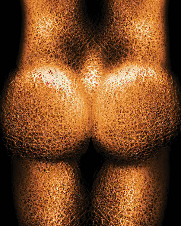 Savad Poster featuring the photograph Nudist - Just Cheeky by Mike Savad