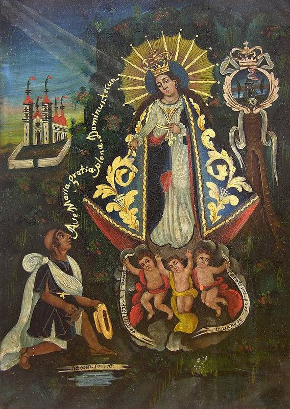 Devotional Poster featuring the painting Nuestra Senora De Ocotlan II by Unknown
