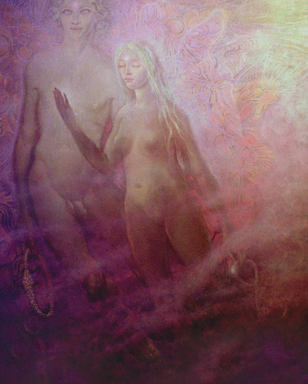 Mystic Poster featuring the painting Numenea.06 by Terrell Gates