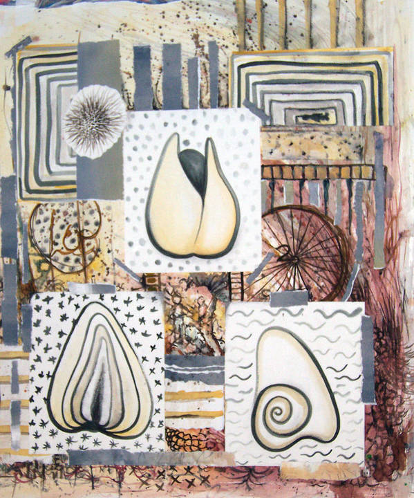Abstract Poster featuring the painting Nuts by Valerie Meotti