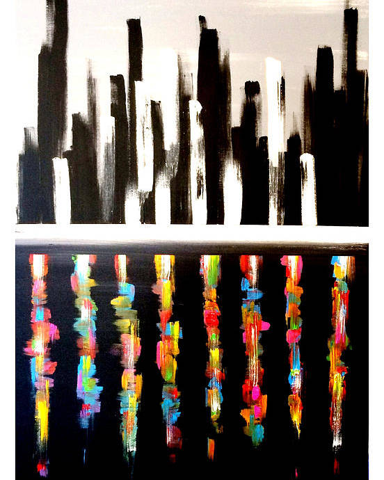 Cityscape Poster featuring the painting NYC by Mac Worthington