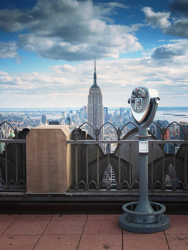Ny Poster featuring the photograph Nyc Viewpoint by Nina Papiorek