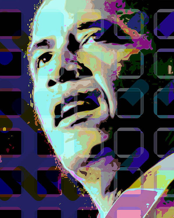 Obama Poster featuring the digital art Obama2 by Scott Davis