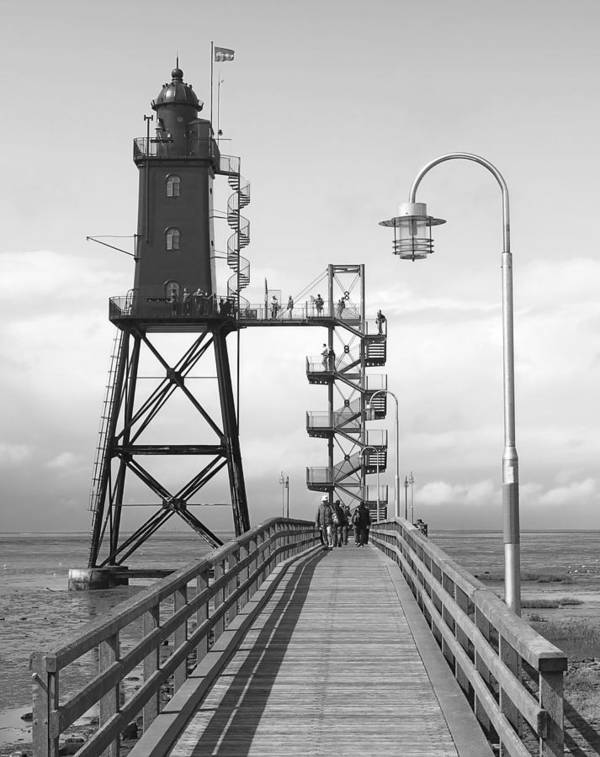 Lighthouse Poster featuring the photograph Obereversand Lighthouse - North Sea - Germany by Daniel Hagerman