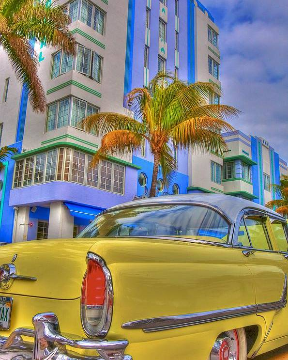 Art Deco Poster featuring the photograph Ocean Drive by William Wetmore