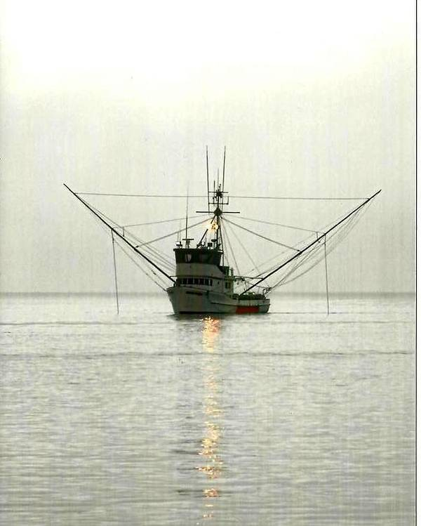 Boat Poster featuring the photograph Ocean Fishing Boat by Alice Eckmann