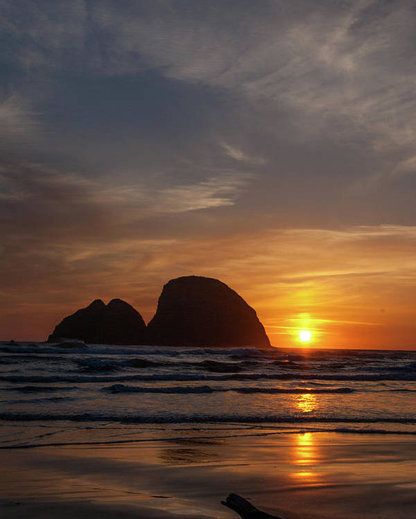 North And Central America Poster featuring the photograph Oceanside Sunset 4 by Ken Dietz