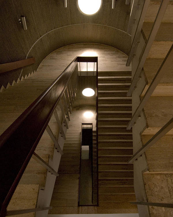 Stair Poster featuring the photograph Oculus 2 by Robert Ponzoni