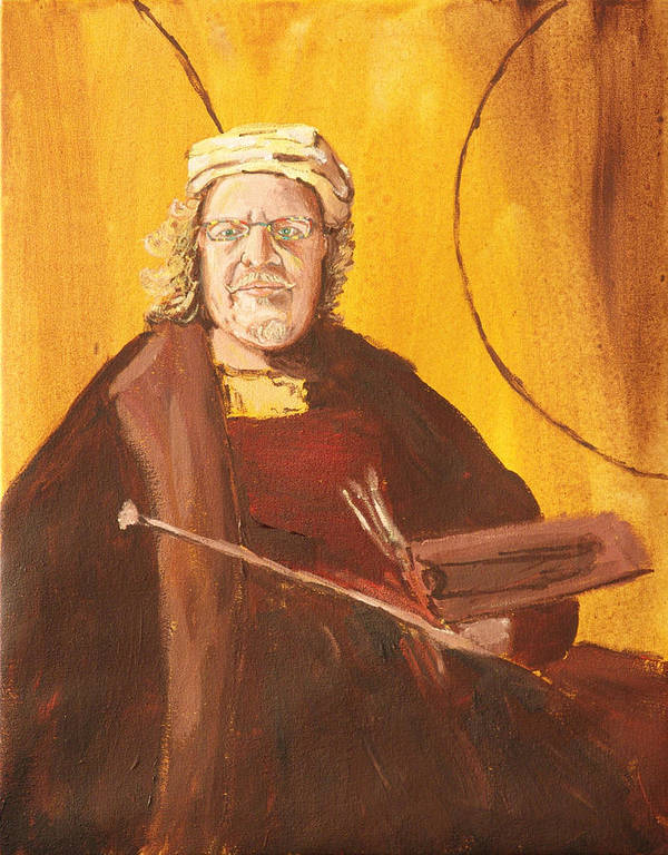 Self Portrait Poster featuring the painting Ode to Rembrandt by Kevin Callahan
