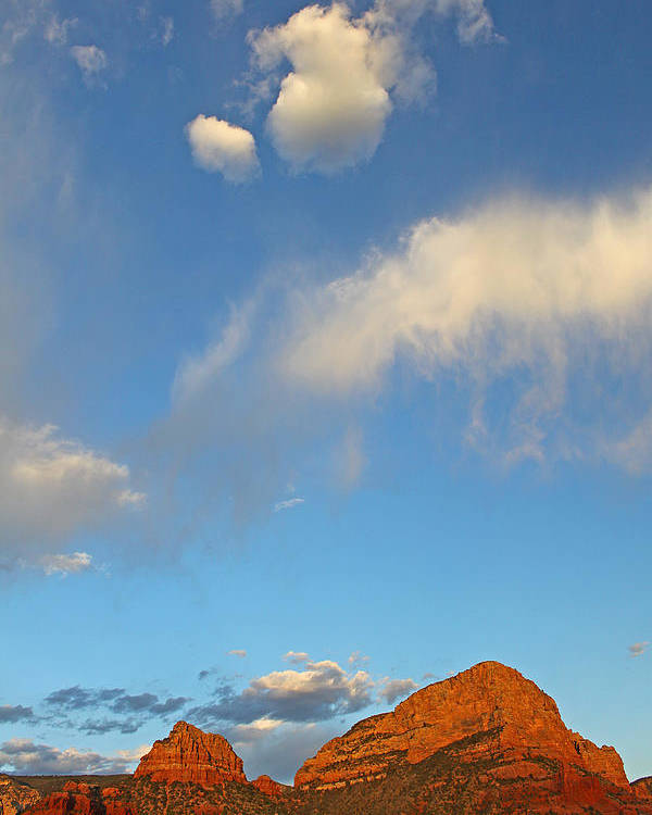 Sedona Poster featuring the photograph Of Heaven And Earth by Gary Kaylor